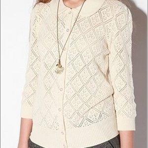 Kimchi Blue Pointelle Peter Pan Collar Sweater XS